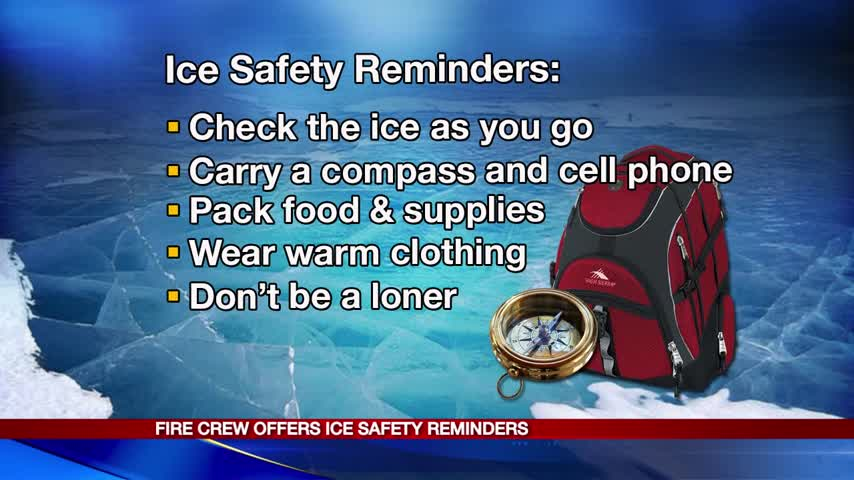 Firefighters- Use caution before stepping on ice_20160124151305