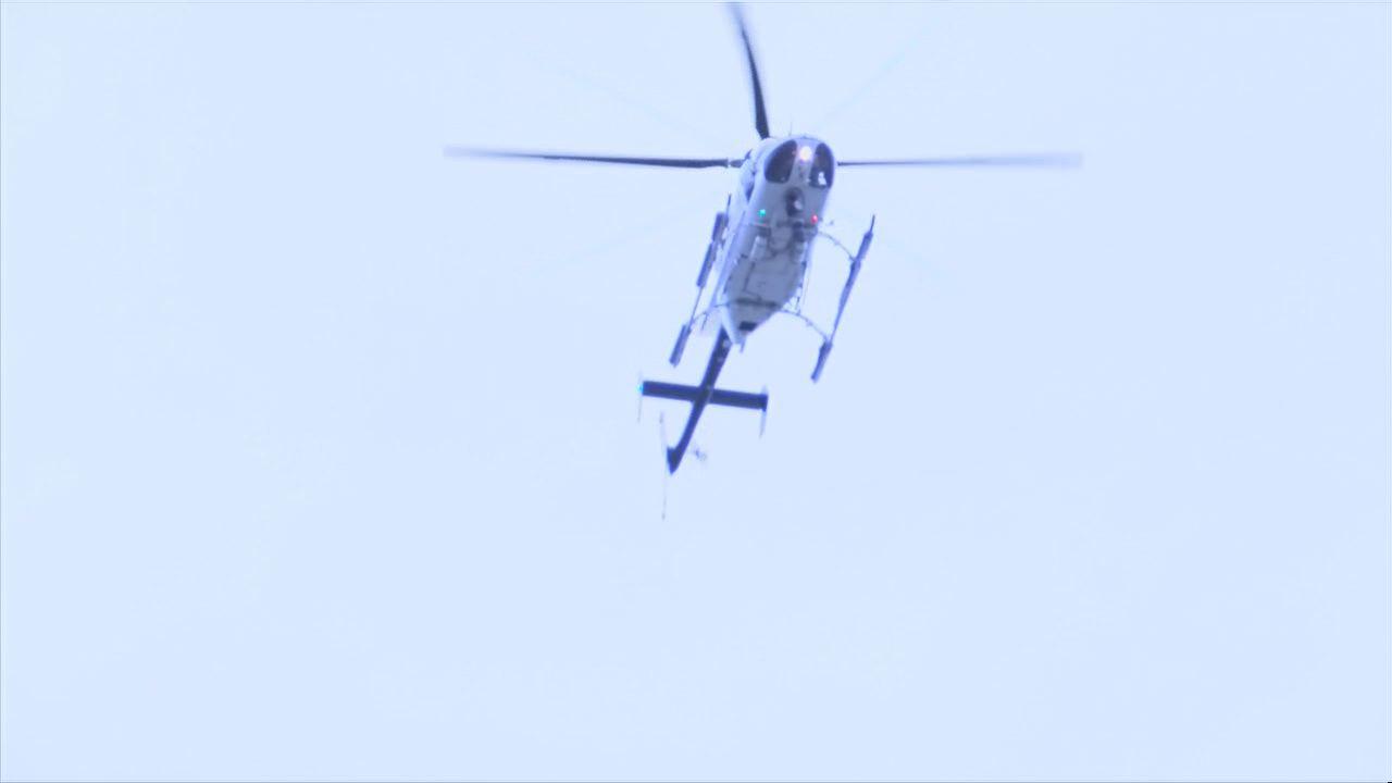 Helicopter over Sylvan Beach