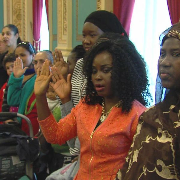 Naturalization Ceremony New Citizens