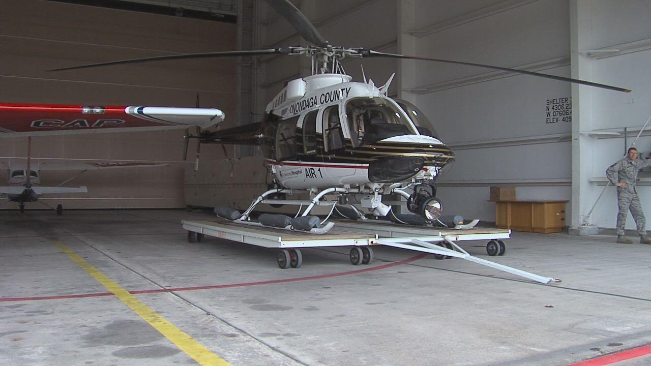 Air-1 in 174th Hangar