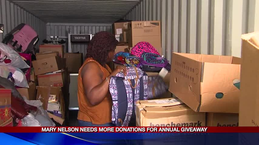 Mary Nelson needs more donations for annual giveaway_92331641