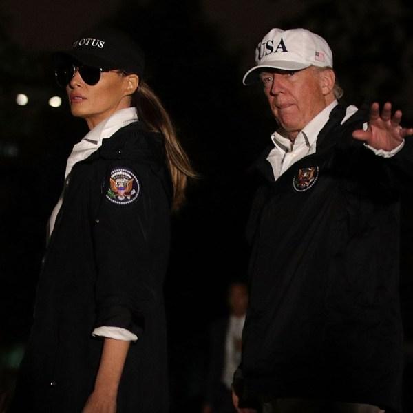 Donald, Melania Trump return from trip to Texas, Hurricane Harvey83827539-159532