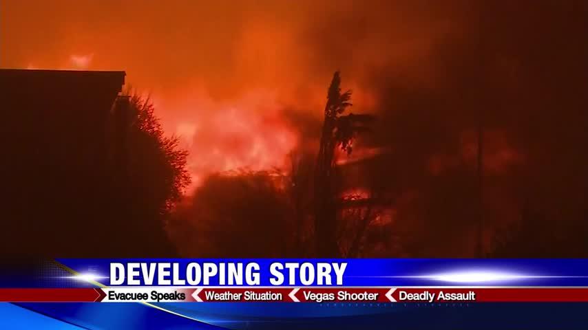 Evacuee in California describes spread of wildfires_80854440