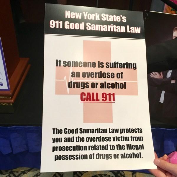Good Samaritan Law Campaign in Oswego County