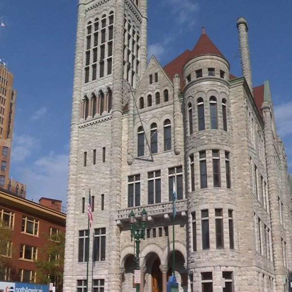 Syracuse City Hall blue sky