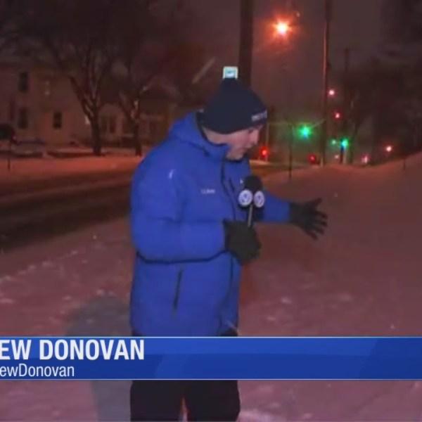 City sidewalk shoveling