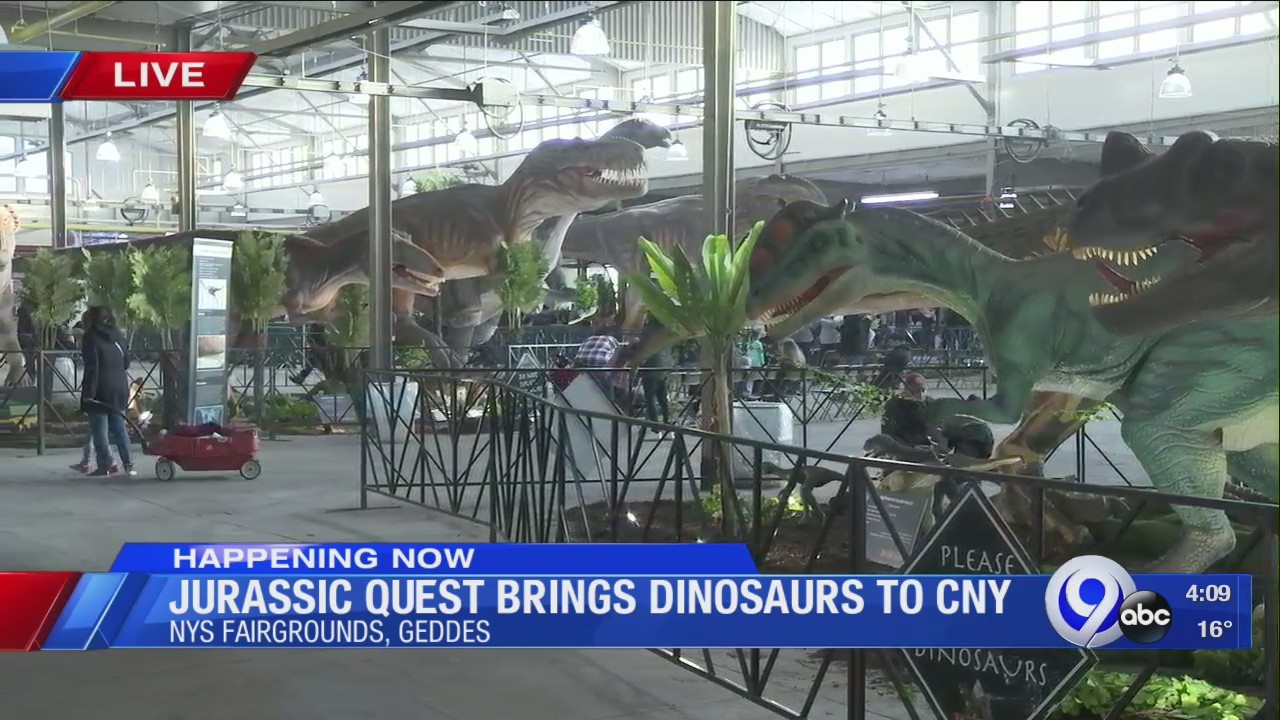 Jurassic Quest brings dinosaurs to CNY this weekend