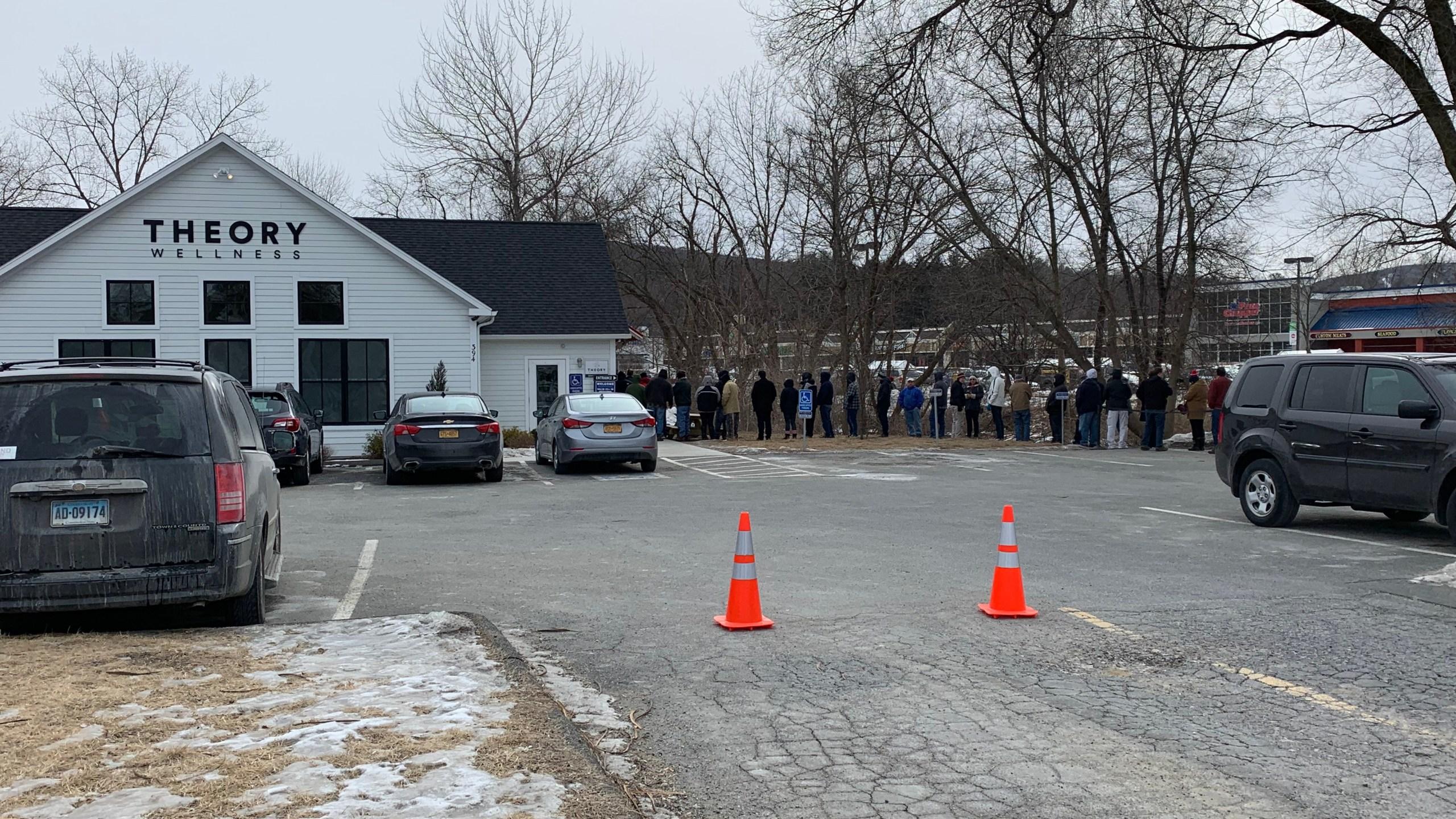 Line outside Massachusetts pot shop