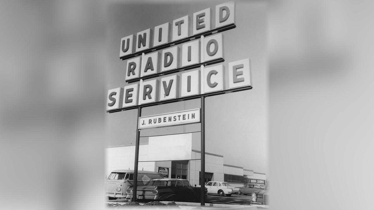 Erie Blvd. United Radio Service Sign