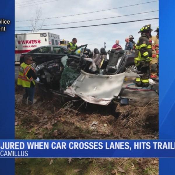 Jordan man injured in Camillus crash