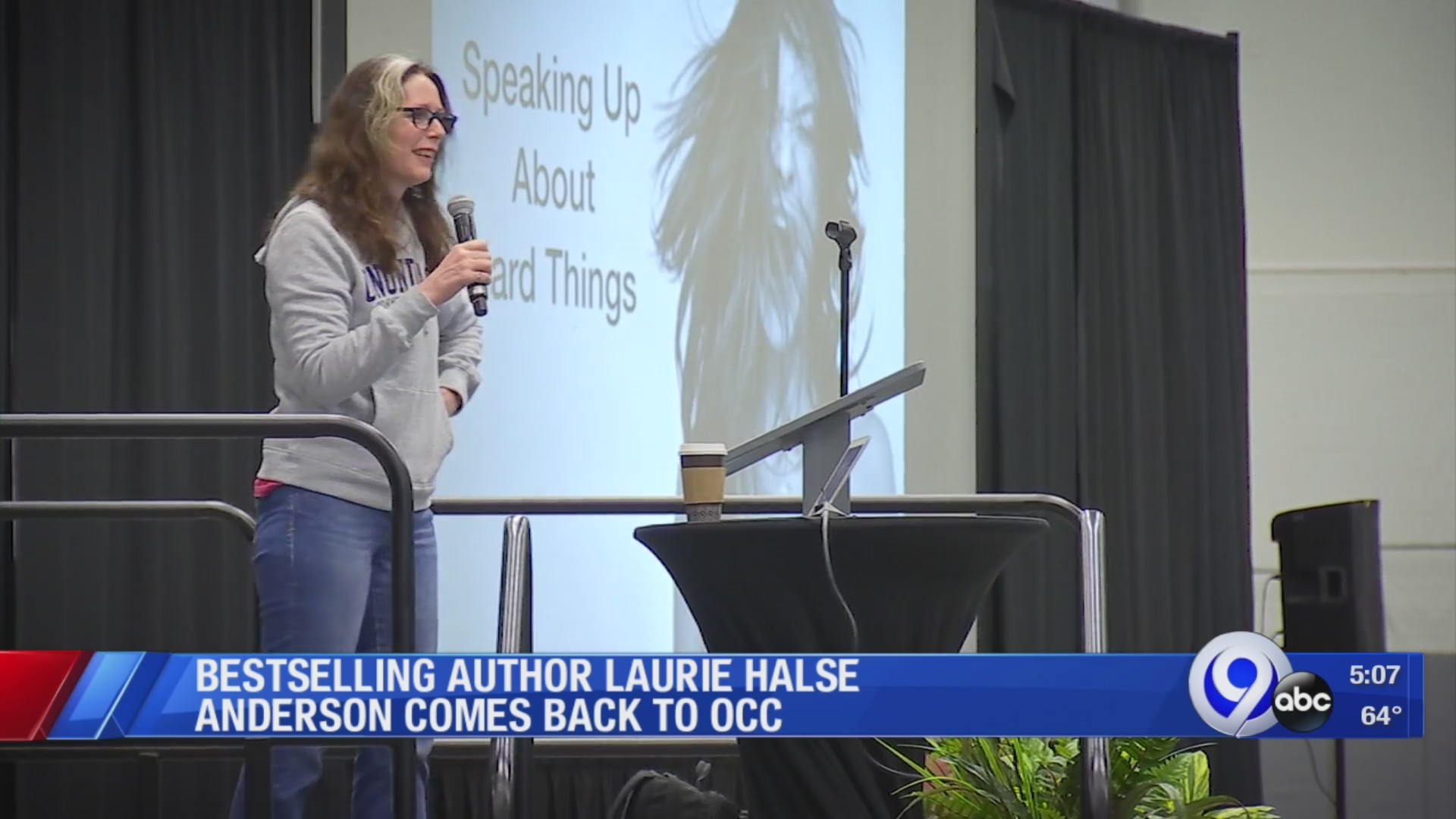 Local students hear famous author speak