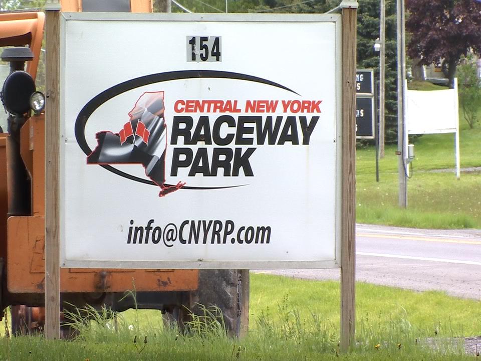 Central New York Raceway Park sign