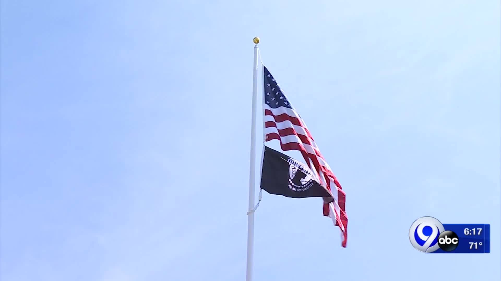 New_veterans_flag_pole_in_Mattydale_6_20190527222155