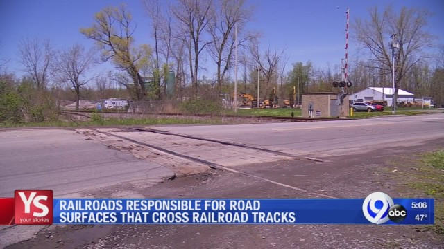 Railroad companies responsible for road surfaces that cross railroad tracks: Your Stories