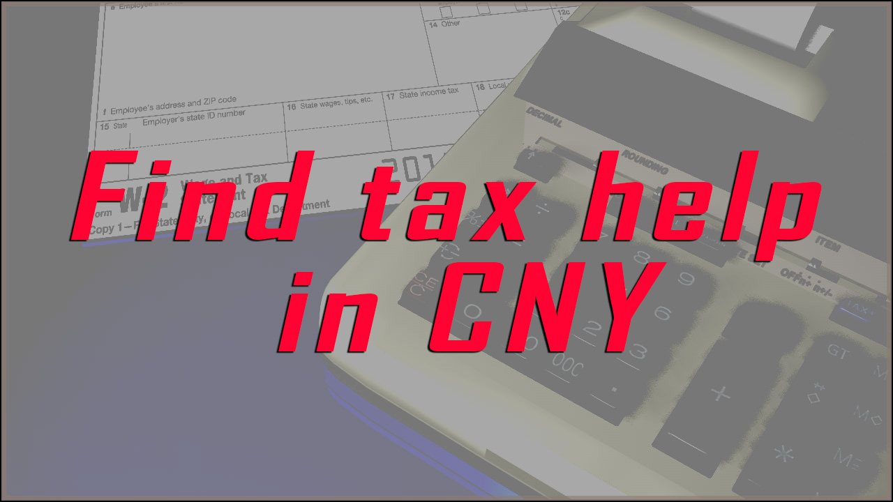 Find tax help in CNY
