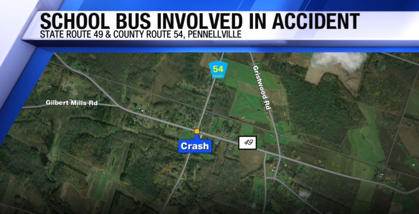 School bus ends up in ditch in Pennellville | WSYR