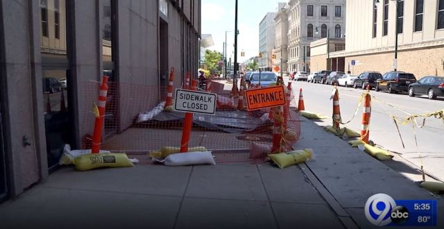 Sidewalk outside Onondaga County Sheriff's Office to re-open later this summer: Your Stories