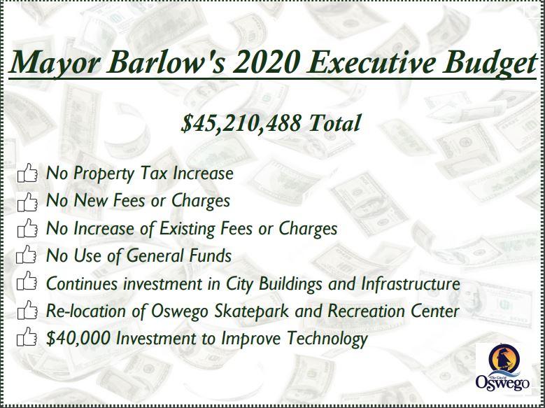Mayor Barlow proposes 2020 operating budget with no tax increase   WSYR