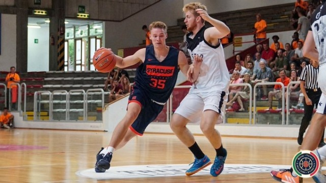Buddy Boeheim leads Syracuse to blowout win in Italy