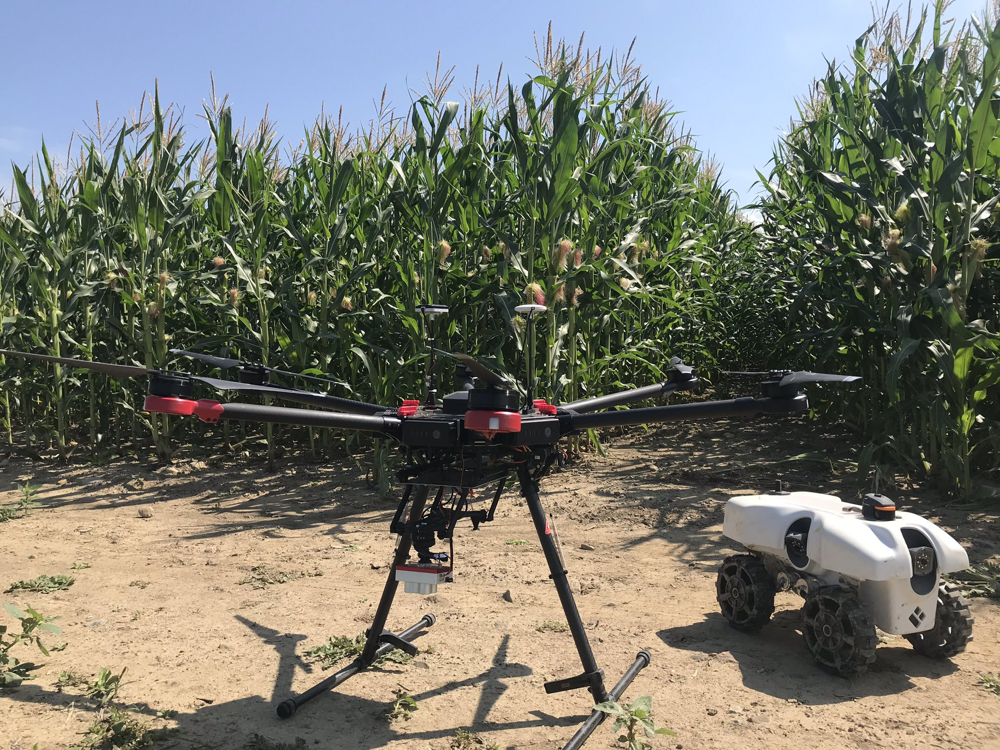 Local researchers using drones and rovers to increase resiliency in agriculture