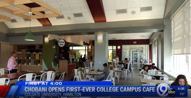 Chobani opens first-ever college campus cafe at Colgate