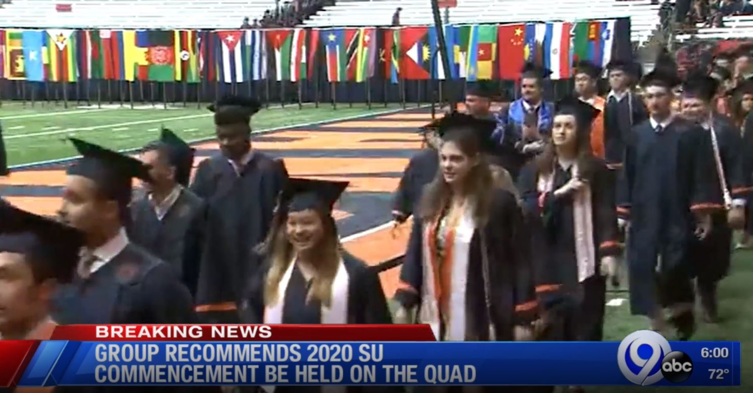 Ithaca College Graduation 2020.Group Recommends 2020 Su Commencement Be Held On Su Quad Wsyr