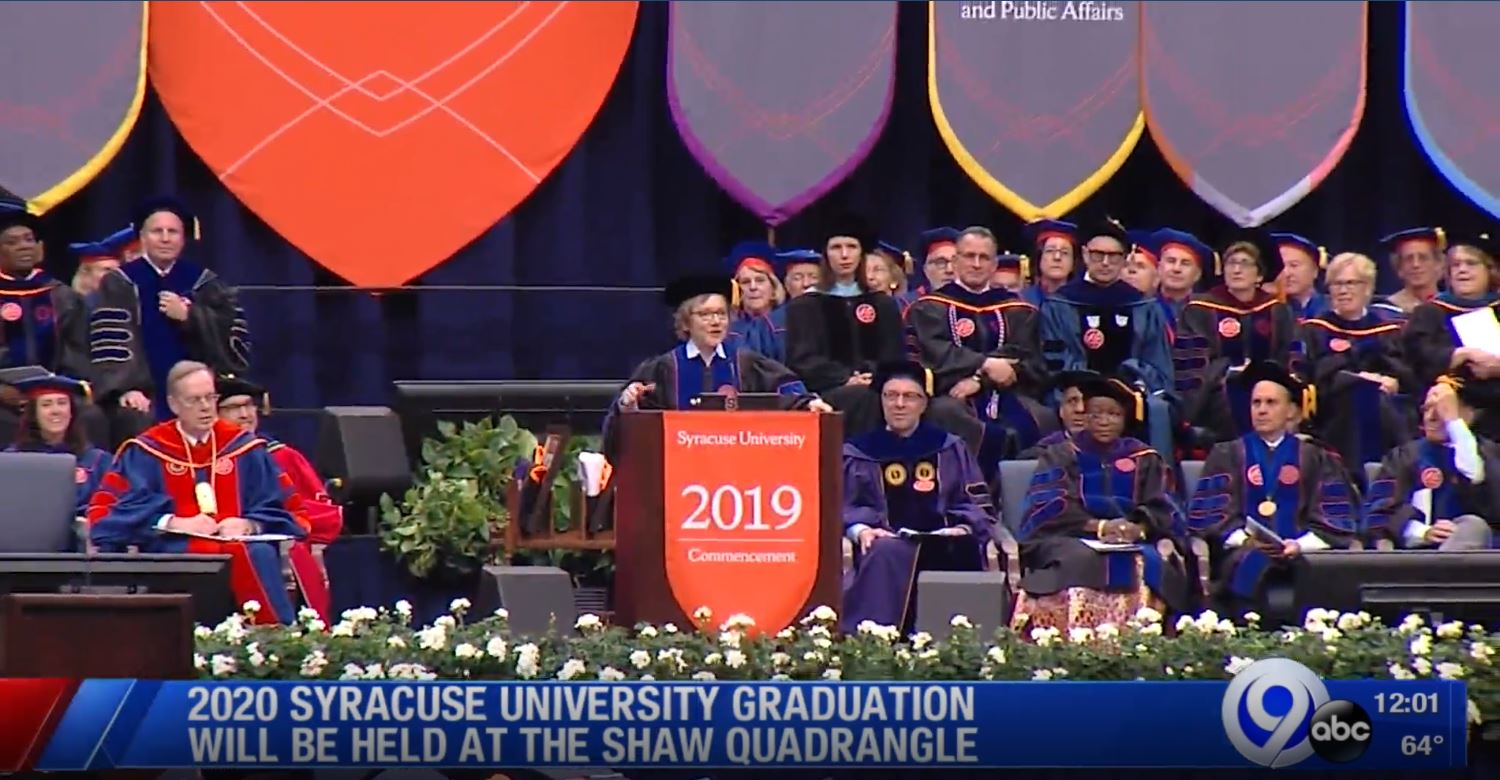 Syracuse Graduation 2020.Su S 2020 Commencement To Be Held In The Quad Wsyr