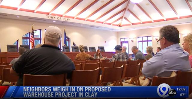 Meeting held to discuss potential tax breaks for warehouse project in Clay