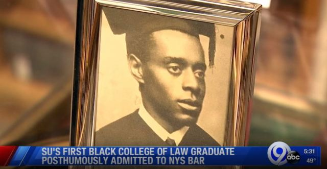 Hidden History: William Herbert Johnson, the first African American graduate of Syracuse University's College of Law, will be posthumously admitted to the New York State Bar