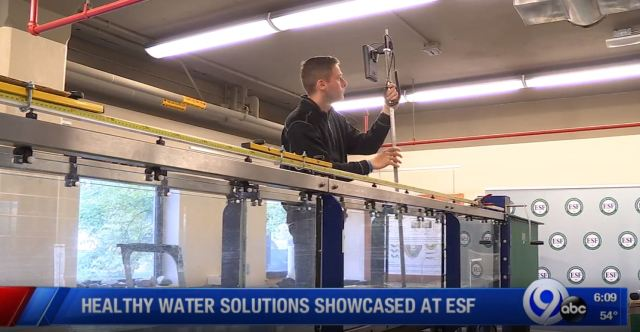 Healthy water solutions showcased at SUNY ESF