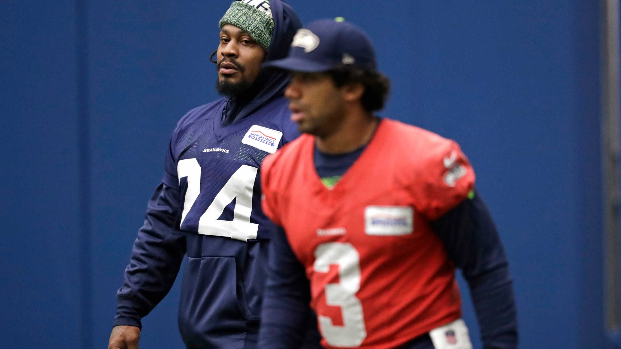 Marshawn Lynch, Russell Wilson
