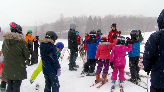 Central New Yorkers and visitors take advantage of the winter-filled weekend
