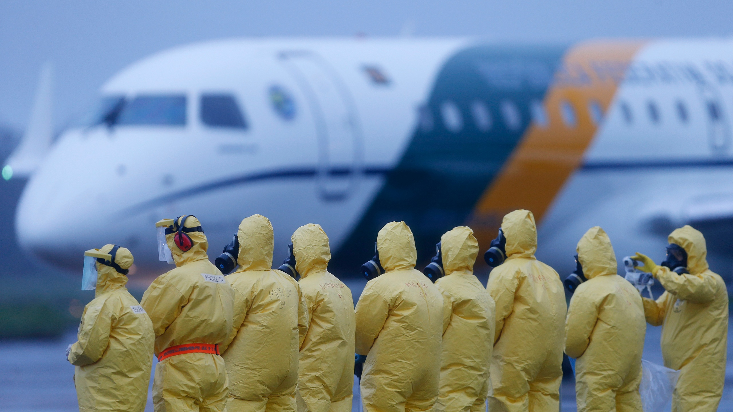 An'polis/ GO - Brazilians removed from Wuhan, China, the epicenter of the worldwide coronavirus outbreak, landed at the An'polis Air Base on February 09, 2020. After disembarking, passengers and crew, will remain isolated in a building at the air base in an eighteen-day quarantine. Beto Barata/ AP