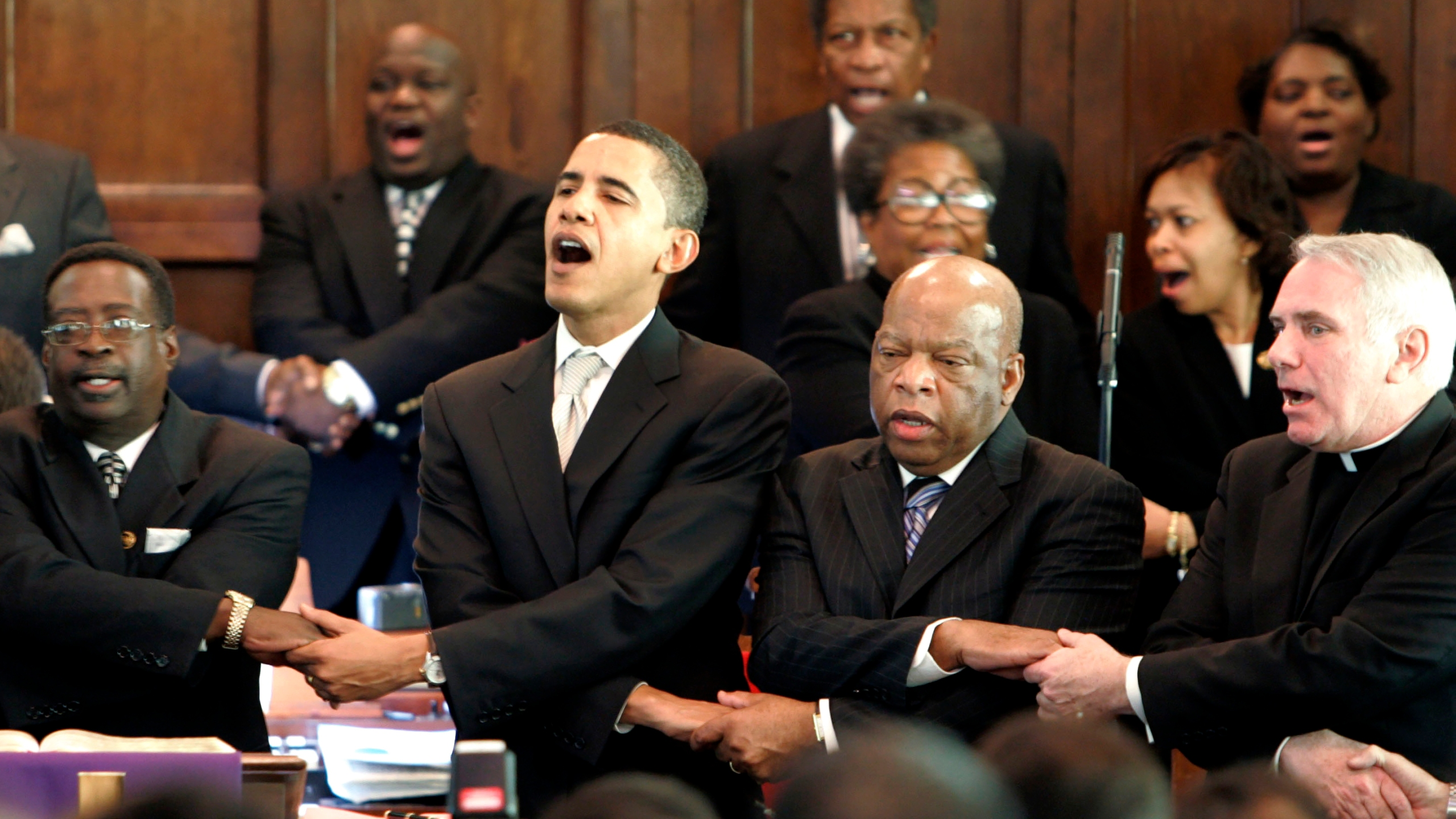 Barack Obama, John Lewis, James Jackson, Clete Kiley