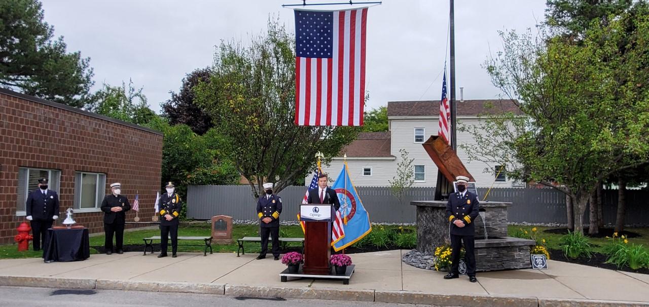 city of oswego 9/11 memorial unveiling