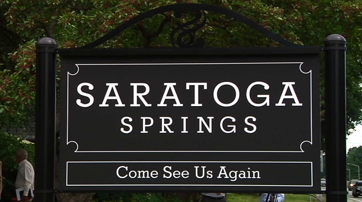 saratoga springs sign