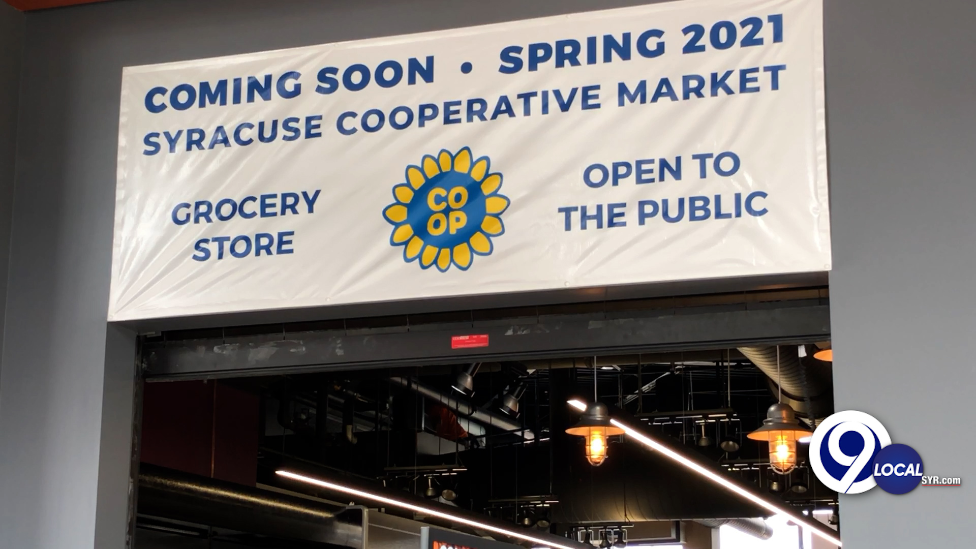 Syracuse Cooperative Market Sign