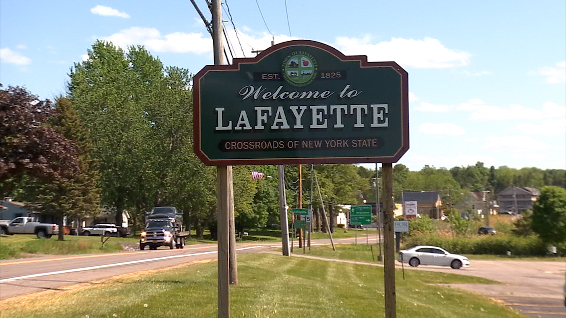 Town of LaFayette sign