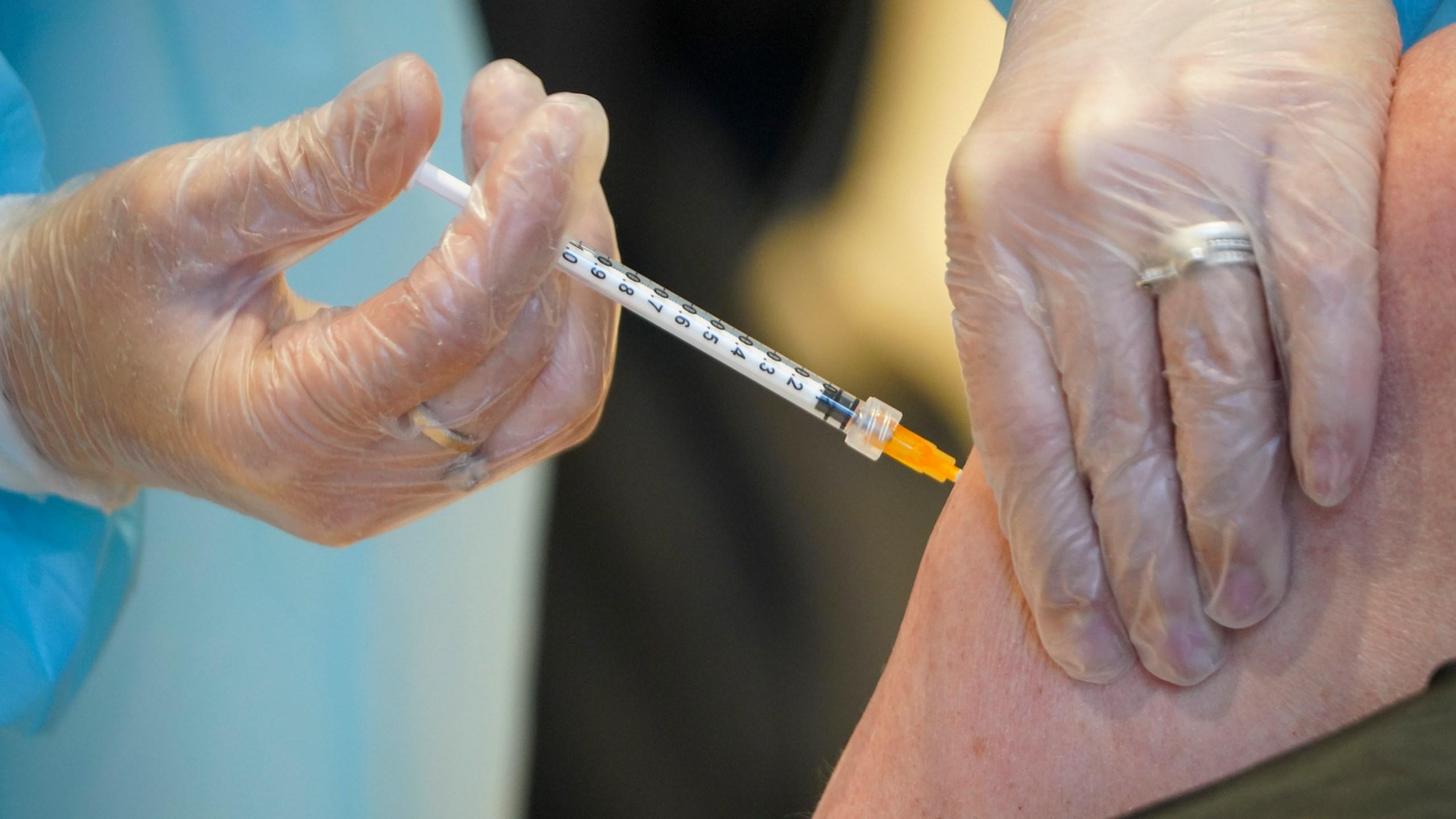 person gets vaccine