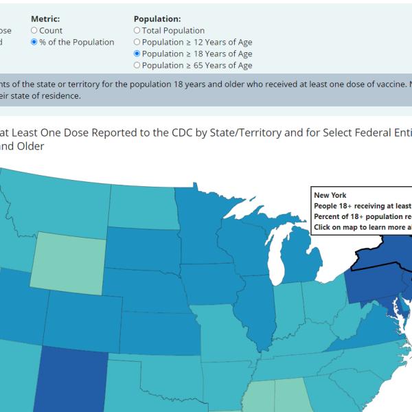 CDC data map