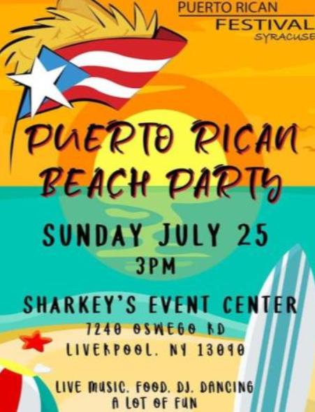 Puerto Rican festival flyer