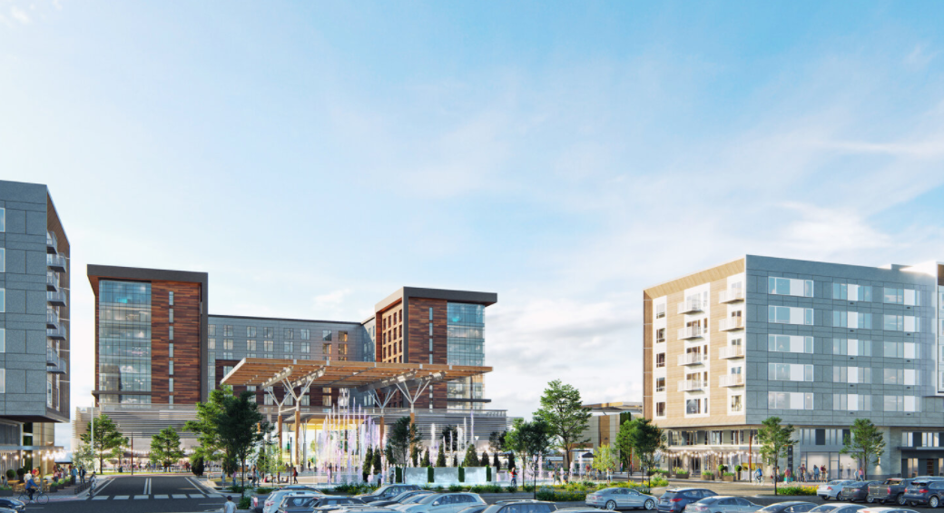 mall complex rendering