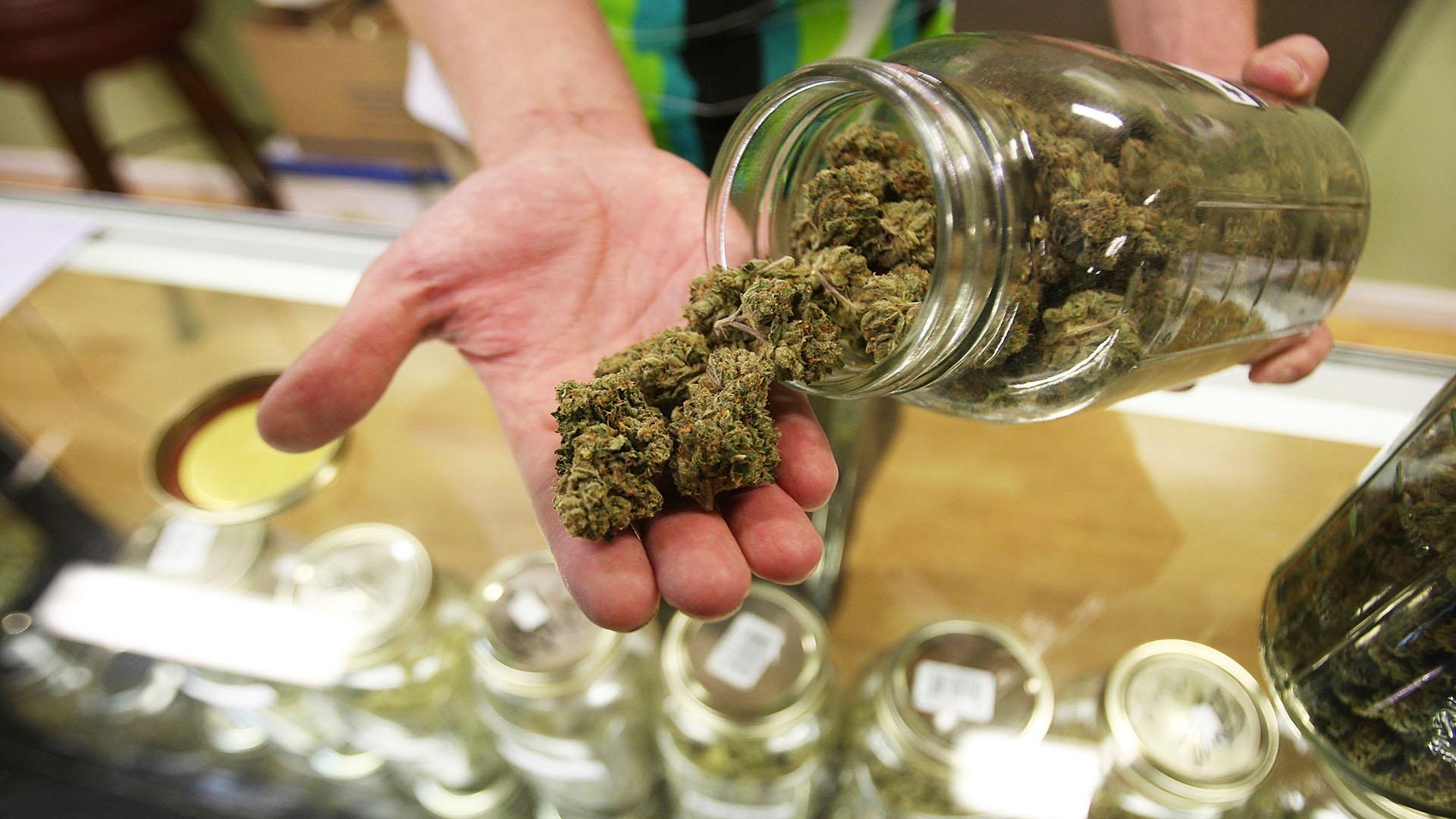 marijuana from jar