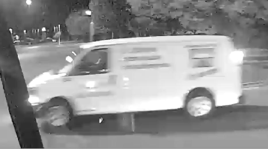 suspect's white van